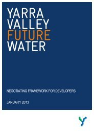 Yarra Valley Water - Water Plan 3 - Essential Services Commission