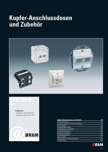 Kupfer-Anschlussdosen und Zubehör - R&M