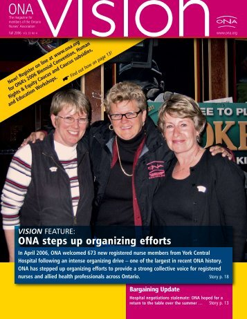 ONA steps up organizing efforts - Ontario Nurses' Association