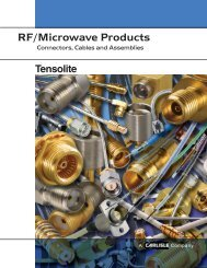 RF/Microwave Products - Carlisle Interconnect Technologies