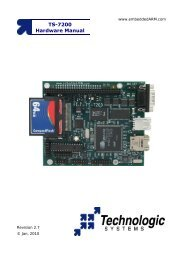 TS-7200 Hardware Manual - Technologic Systems