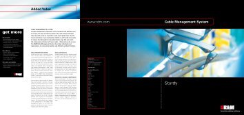 Cable Management System - Sturdy, 2009 - R&M