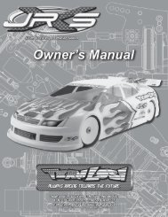 JRX-S Instruction Manual (BW).indd - Team Losi Racing