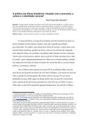 A política nos filmes brasileiros: relações com a economia, a ... - Eptic