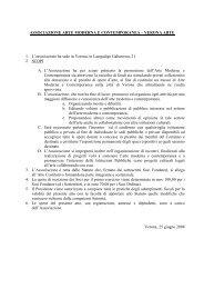 ASSOCIAZIONE ARTE MODERNA E CONTEMPORANEA ...