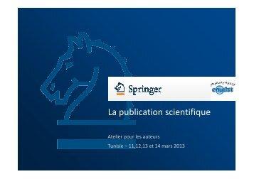 Tendances dans la publication scientifique - CNUDST