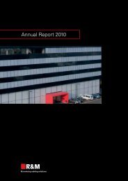 Annual Report 2010 (0.99 MB) - R&M