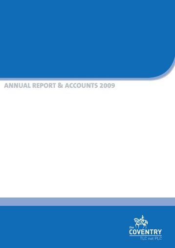 Annual report and accounts 2009 (PDF) - Coventry Building Society
