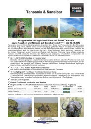 Tansania & Sansibar - Roger Tours