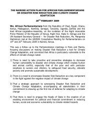 The Nairobi Action Plan for African Parliamentarians on ... - CAPWIP