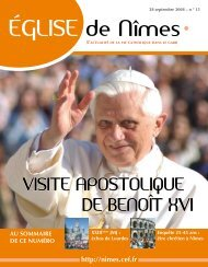 ÉGLISE de Nîmes - Diocèse de Nîmes, Uzès, Alès