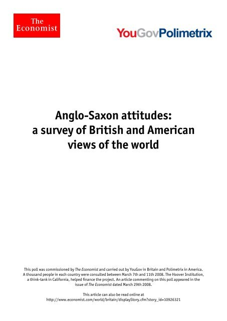 Anglo-Saxon attitudes: a survey of British and American views of the ...