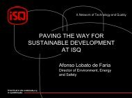 PAVING THE WAY FOR SUSTAINABLE DEVELOPMENT AT ISQ