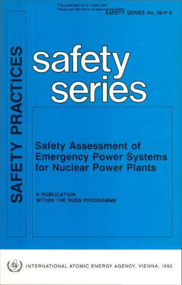 SAFETY P R A C TIC E S - gnssn - International Atomic Energy Agency