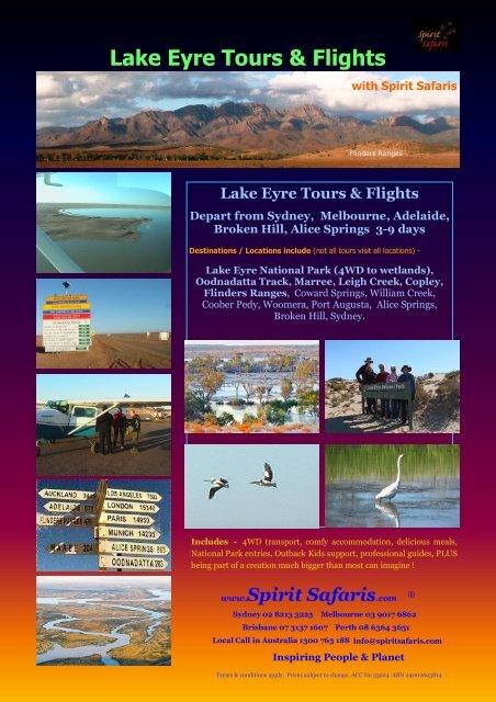 Lake Eyre Tours & Flights - Spirit Safaris