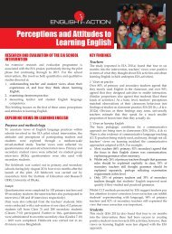 Perceptions and Attitudes to Learning English