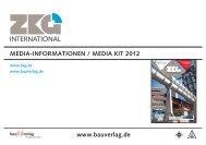 MEDIA-INFORMATIONEN / MEDIA KIT 2012 www.bauverlag.de