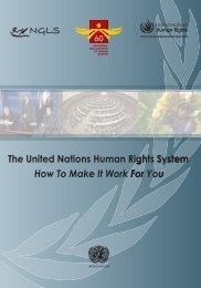 The United Nations Human Rights System: How to Make it - NGLS