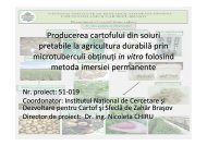 detalii - Institutul National de Cercetare Dezvoltare pentru Cartof si ...