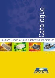 Solutions & Tools for Serial / Network communications - ACKSYS