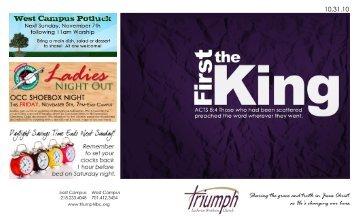 New to Triumph? - Triumph Lutheran Brethren Church