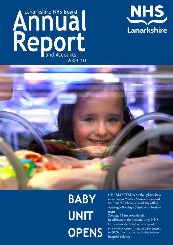 Annual Report 2009/2010 - NHS Lanarkshire