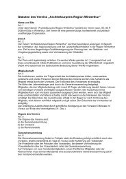 """Statuten des Vereins """"Architekturpreis Region Winterthur"""""""