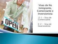 Visas de No Inmigrante, Comerciante e Inversionista