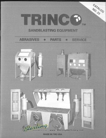 Trinco Sandblasting Equipment Brochure - Sterling Machinery
