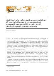 Dai Tagli alla cultura alle nuove politiche di sostenibilità per le - Fizz