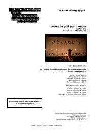 Dossier pédagogique Arlequin poli par l'Amour - Théâtre des deux ...