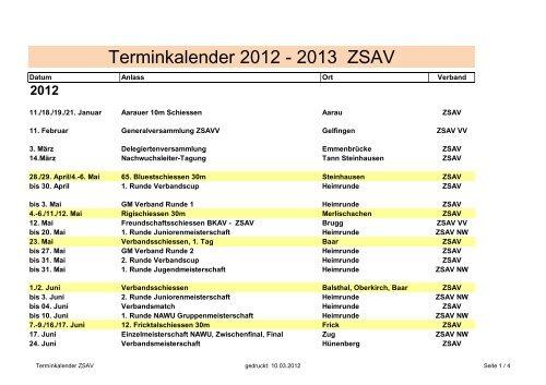 ZSAV Spez Terminkalender 2012-2013