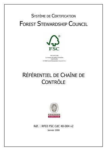 Référentiel FSC de traçabilité des produits bois - Site internet ...