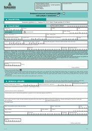 Oznámení pracovní neschopnosti - Kooperativa, pojišťovna, a.s.