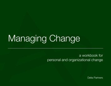 a workbook for personal and organizational change - Webklik