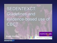 SEDENTEXCT: Guidelines and evidence-based use of CBCT