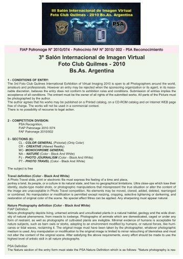3º Salón Internacional de Imagen Virtual Foto Club Quilmes - 2010 ...