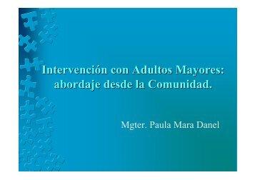 Adultos Mayores aportes para la intervención profesional