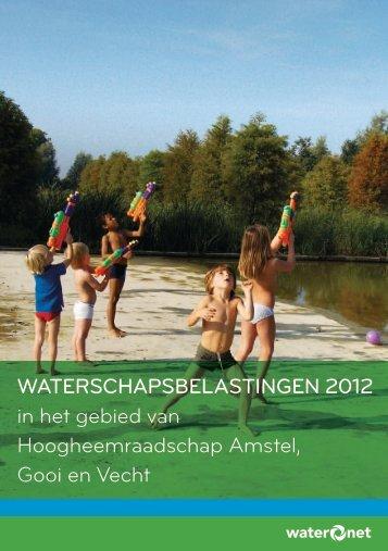 WATERSCHAPSBELASTINGEN 2012 in het gebied van ... - Waternet