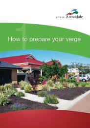Fact Sheet 1: How to prepare your verge (PDF ... - City of Armadale