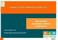 Investments into biomass to energy projects in Indonesia