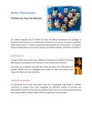 Ateliers marionnettes - Théâtre du Pays de Morlaix