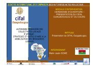Siège du CIFAL Ouagadougou - Association Nationale des ...