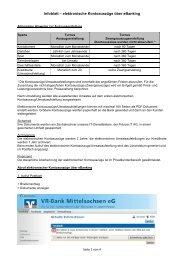 Infoblatt - VR-Bank Mittelsachsen eG