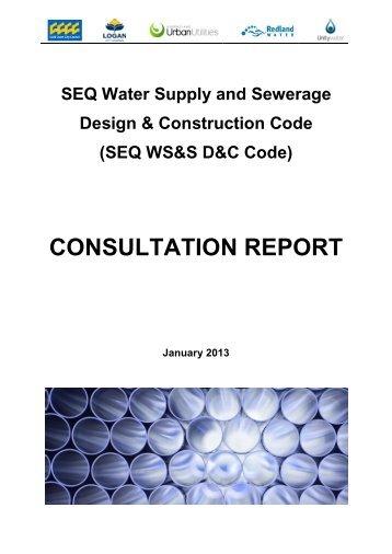 CONSULTATION REPORT - SEQ Design and Construction Code
