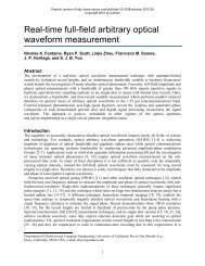 Real-time full-field arbitrary optical waveform measurement - Next ...