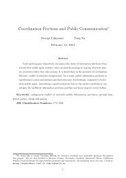 Coordination Frictions and Public Communication - SAET