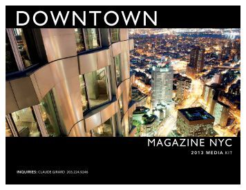 2013 MEDIA KIT - Downtown Magazine