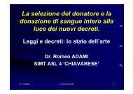 Leggi e decreti: lo stato dell'arte - C.R.C.C. Liguria