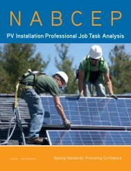 NABCEP PV Installation Professional JTA